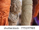 Yarn bundle weave zoom shot...