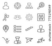 thin line icon set   man ... | Shutterstock .eps vector #775198549