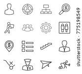 thin line icon set   man ...   Shutterstock .eps vector #775198549