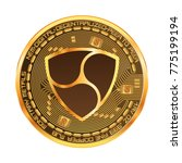 crypto currency golden coin... | Shutterstock .eps vector #775199194