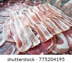 sliced japanese pork | Shutterstock . vector #775204195