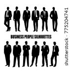 set of silhouettes of business... | Shutterstock . vector #775204741