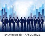 business team against the... | Shutterstock . vector #775205521