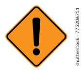 warning sign. exclamation point ... | Shutterstock .eps vector #775206751