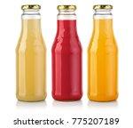 bottles of  juice isolated on... | Shutterstock . vector #775207189