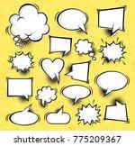 big set comic speech bubbles... | Shutterstock .eps vector #775209367