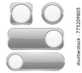 gray glass buttons with white... | Shutterstock . vector #775209805