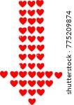logo love . symbol heart grunge ... | Shutterstock .eps vector #775209874