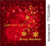 christmas design vector.merry... | Shutterstock .eps vector #775215484