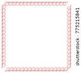 frame red. decoration concept.... | Shutterstock .eps vector #775215841
