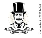 gentleman club. man head in... | Shutterstock .eps vector #775216249