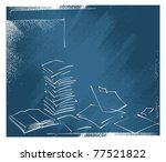 sheets of paper design ... | Shutterstock .eps vector #77521822
