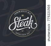 steak house or meat store... | Shutterstock .eps vector #775221505
