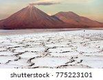 the licancabur volcano high on...   Shutterstock . vector #775223101
