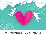 flying cupids   amur angels... | Shutterstock .eps vector #775228981