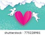 flying cupids   amur angels... | Shutterstock .eps vector #775228981