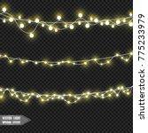 christmas lights isolated on... | Shutterstock .eps vector #775233979