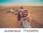 young couple in love standing... | Shutterstock . vector #775234591
