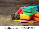 many different sponges for... | Shutterstock . vector #775236907