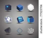 collection of cube designs | Shutterstock .eps vector #77523706