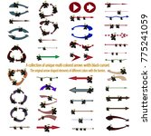 multi colored arrows. set of... | Shutterstock .eps vector #775241059