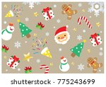 christmas symbol and decorated... | Shutterstock .eps vector #775243699