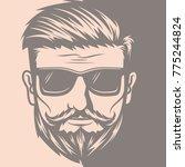 Barber Hair Beard Mustache Logo