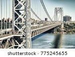 george washington bridge  new... | Shutterstock . vector #775245655