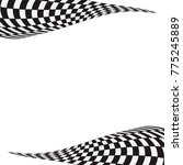 checkered racing flag isolated... | Shutterstock .eps vector #775245889