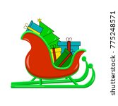 santas sledge with presents.... | Shutterstock .eps vector #775248571