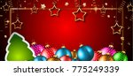 2018 happy new year background... | Shutterstock .eps vector #775249339