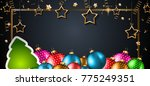 2018 happy new year background... | Shutterstock .eps vector #775249351