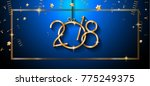 2018 happy new year background... | Shutterstock .eps vector #775249375