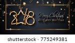 2018 happy new year background... | Shutterstock .eps vector #775249381