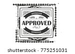 approved icon vintage rubber... | Shutterstock .eps vector #775251031