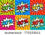 sale set. sale forty percent 40 ... | Shutterstock .eps vector #775253011