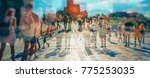crowd of anonymous people... | Shutterstock . vector #775253035