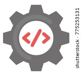 php codes with gear wheel... | Shutterstock .eps vector #775253131