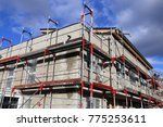 new construction with finished... | Shutterstock . vector #775253611