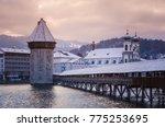 historic city center of lucerne ... | Shutterstock . vector #775253695