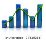 blue business graph | Shutterstock . vector #77525386