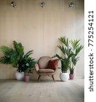 modern loft living room with... | Shutterstock . vector #775254121