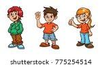 kids children illustration... | Shutterstock .eps vector #775254514
