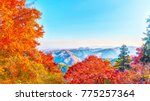 mountains view from mount takao ... | Shutterstock . vector #775257364