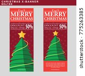 christmas sale web banner with... | Shutterstock .eps vector #775263385