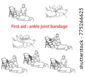 first aid bandage in case of... | Shutterstock .eps vector #775266625