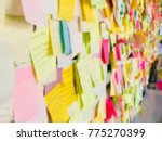 colorful sticky note or paper...   Shutterstock . vector #775270399
