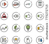 line vector icon set   right... | Shutterstock .eps vector #775272715