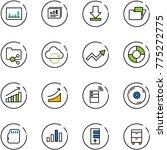 line vector icon set  ... | Shutterstock .eps vector #775272775