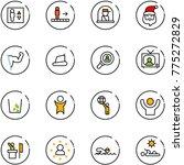 line vector icon set   elevator ... | Shutterstock .eps vector #775272829